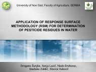 OF PESTICIDE RESIDUES IN WATER