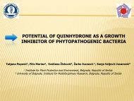 POTENTIAL OF QUINHYDRONE AS A GROWTH INHIBITOR OF PHYTOPATHOGENIC BACTERIA