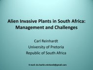 Alien Invasive Plants in South Africa Management and Challenges
