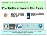 Prioritisation of Invasive Alien Plants