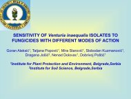 SENSITIVITY OF Venturia inaequalis ISOLATES TO ... - Izbis