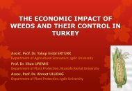 THE ECONOMIC IMPACT OF WEEDS AND THEIR CONTROL IN TURKEY