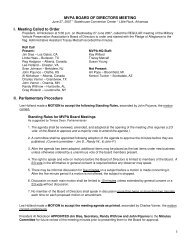 Minutes From The June 2007 Meeting - Military Vehicle Preservation ...