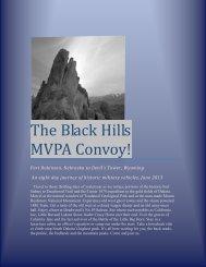 The Black Hills MVPA Convoy!