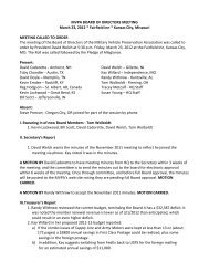 Minutes from the March 2012 Meeting - Military Vehicle Preservation ...