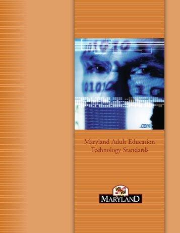 Maryland Adult Education Technology Standards