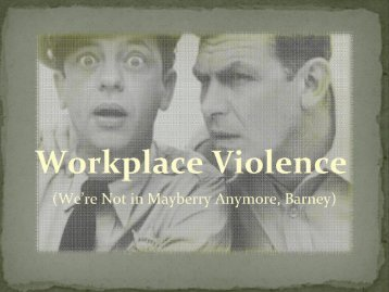 Violence in the Workplace - Jim Arsenault - Safety Services New ...
