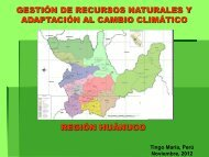 Gestión de recursos naturales y adaptación al cambio climático