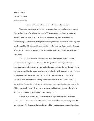 sample inquiry essay 1 sample student 12 2010 illustration essay women in