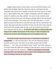 Stephen King sample essay