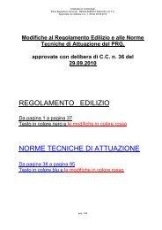 REGOLAMENTO EDILIZIO NORME TECNICHE DI ATTUAZIONE