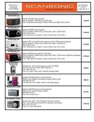 SCANSONIC R2 1.290,00 SCANSONIC R3 1.980,00 ... - Audio dream