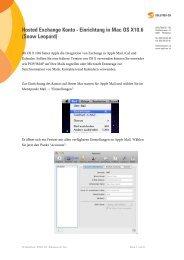Hosted Exchange Konto - Einrichtung in Mac OS X10.6 (Snow Leopard)