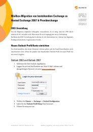 Migration von Exchange Version 2003 zu Hosted ... - Solution.ch AG