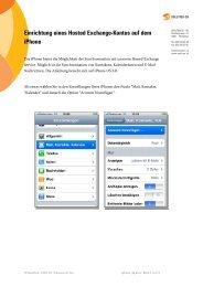 Einrichtung eines Hosted Exchange-Kontos auf dem iPhone