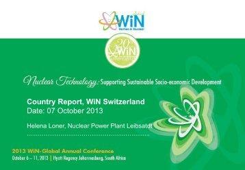 Country Report WiN Switzerland Date 07 October 2013
