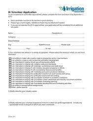 IA Volunteer Application