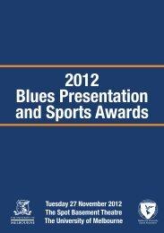 2012 Blues Presentation and Sports Awards