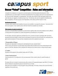 Futsal Rules - Melbourne University Sport