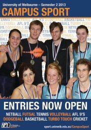 CAMPUS SPORT ENTRIES NOW OPEN