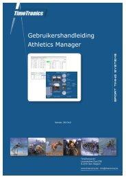 Gebruikershandleiding Athletics Manager