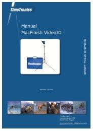 Manual MacFinish VideoID