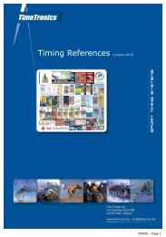 Timing References