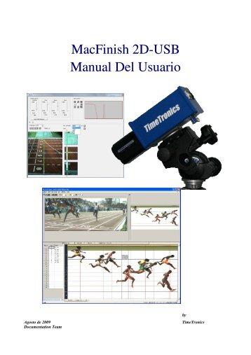 MacFinish 2D-USB Manual Del Usuario
