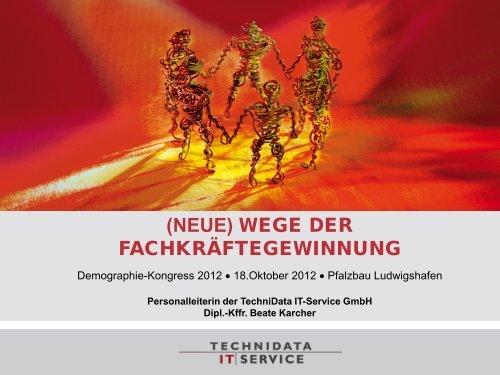 Vortrag Beate Karcher, TechniData IT-Service GmbH