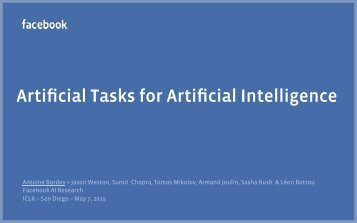 Artificial Tasks for Artificial Intelligence