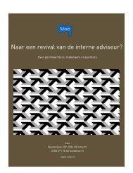Naar een revival van de interne adviseur?
