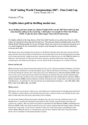 ISAF Sailing World Championships 2007 – Finn Gold Cup Trujillo ...