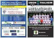 Liebe Fußballfreunde! - Union Thalheim
