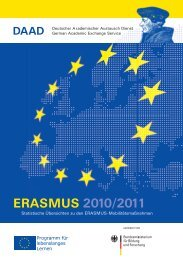 ERASMUS 2010/2011 - DAAD