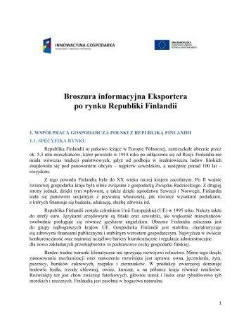 Broszura informacyjna Eksportera po rynku Republiki Finlandii