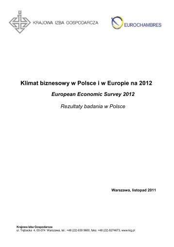 Klimat biznesowy w Polsce i w Europie na 2012