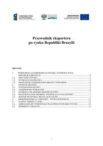 Przewodnik eksportera po rynku Republiki Brazylii