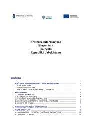 Broszura informacyjna Eksportera po rynku Republiki Uzbekistanu