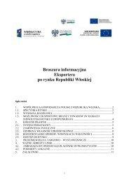 Broszura informacyjna Eksportera po rynku Republiki Włoskiej