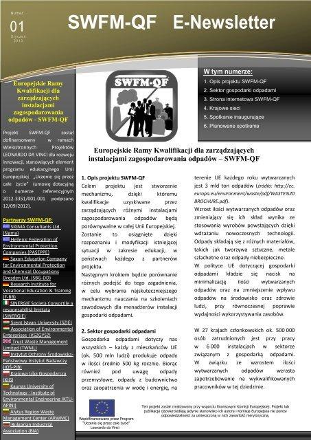 SWFM-QF E-Newsletter