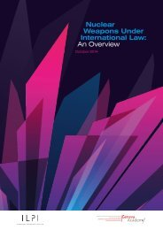 Nuclear Weapons Under International Law An Overview