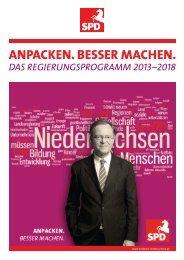 Download: Regierungsprogramm 2013 - 2018 - SPD Niedersachsen