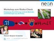 Workshop zum Risiko-Check