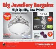Big Jewellery Bargains - The Warehouse