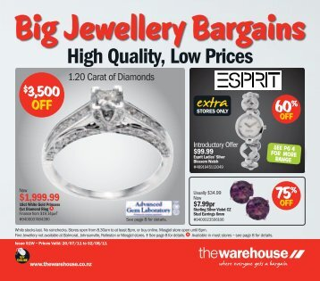 Big Jewellery Bargains - The Warehouse