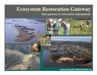 Ecosystem Restoration Gateway