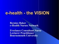 e-health - the VISION