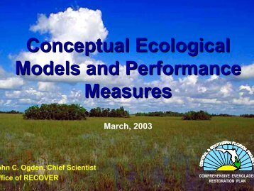 Conceptual Ecological Models and Performance Measures