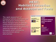 HEAT Habitat Evaluation and Assessment Tools