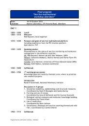 "Final program ""Sea lice multinational workshop Aberdeen"" DAY 1"